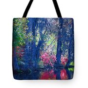Blue Trees Tote Bag