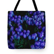 Blue Tulips Tote Bag