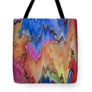 Blue Turkeys And Lightning Tote Bag