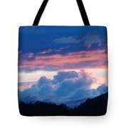 Blue Twilight Clouds Art Prints Mountain Pink Sunset Baslee Troutman Tote Bag