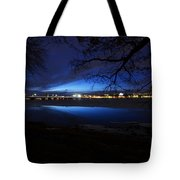 Blue Twilight Over The Charles River Tote Bag