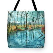 Blue Under Blue Tote Bag