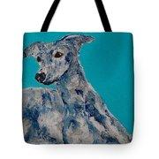 Blue Vespa Tote Bag