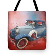 Blue Vintage Car Tote Bag