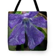 Blue Violet Raindrops Tote Bag