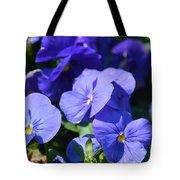 Blue Violets Tote Bag