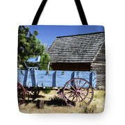 Blue Wagon Tote Bag