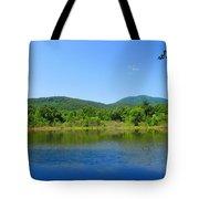 Blue Wall Lake Tote Bag