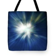 Blue Warp Tote Bag