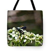 Blue Wasp 2 Tote Bag by Douglas Barnett