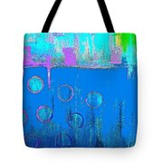 Blue Water And Sky Abstract Tote Bag