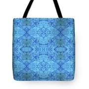 Blue Water Batik Tiled Tote Bag