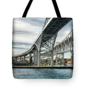 Blue Water Bridge Tote Bag