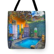 Blue Water Courtyard Tote Bag