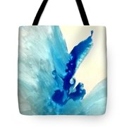 Blue Water Flower Tote Bag by KR Moehr