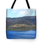 Blue Water Green Islands Tote Bag