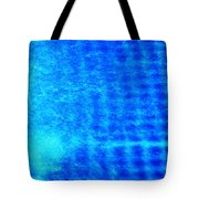 Blue Water Grid Abstract Tote Bag