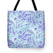 Blue Water Leaves Tote Bag