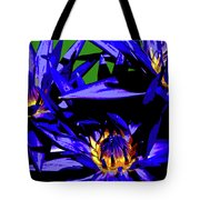 Blue Water Lily Iv Tote Bag