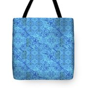 Blue Water Patchwork Tote Bag