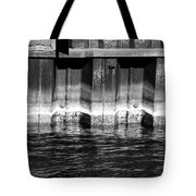 Blue Water Retaining Wall 4 Bw Tote Bag