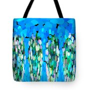 Blue Waterfalls And Teardrops Tote Bag