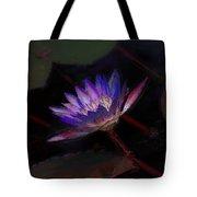 Blue Waterlily Tote Bag