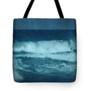 Blue Waves - Jersey Shore Tote Bag by Angie Tirado