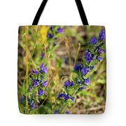 Blue Weed Tote Bag