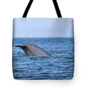 Blue Whale Tail Flop Tote Bag