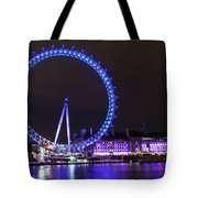 Blue Wheel Tote Bag
