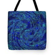 Blue Whirl Wind In The Sky Tote Bag
