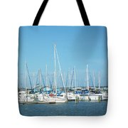 Blue White And Blue Tote Bag