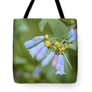 Blue Wild Flower Tote Bag