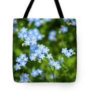 Blue Wildflowers Forget Me Nots Tote Bag