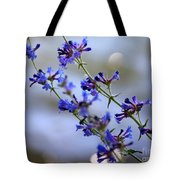 Blue Wildflowers Over Rimrock Lake Tote Bag
