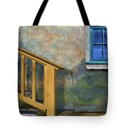Blue Window Sill Tote Bag