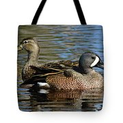 Blue Winged Teal Pair Tote Bag