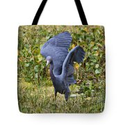 Blue Wings And Green Pond Tote Bag