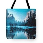 Blue Winter Fantasy. L B Tote Bag