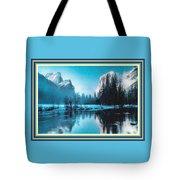 Blue Winter Fantasy. L B With Alt. Decorative Ornate Printed Frame. Tote Bag