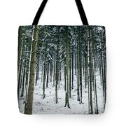 Blue Winter Forest Tote Bag