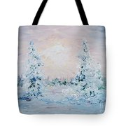 Blue Winter Tote Bag