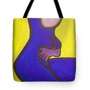 Blue Woman Tote Bag