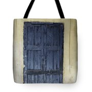 Blue Wood Door Tote Bag