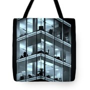Blue Workplace Tote Bag
