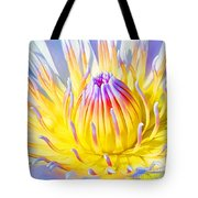 Blue Yellow Lily  Tote Bag