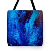 Blue Yoga Tote Bag