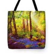 Bluebell Blessing Tote Bag by Jane Small