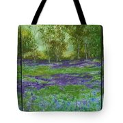 Bluebell Meadow Triptych Tote Bag